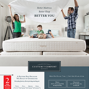 Custom Comfort Mattress Advertising