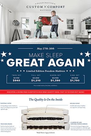 Custom Comfort Mattress Make Sleep Great Campaign