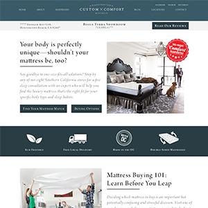 Custom Comfort Mattress Location Page Design