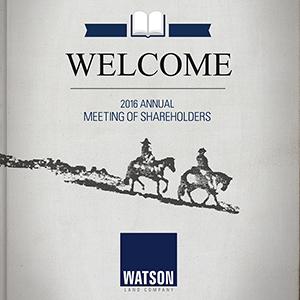 Watson 2016 Shareholder Event